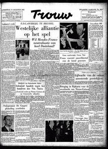 Trouw / De Rotterdammer 1954-08-19