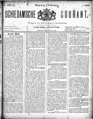 Schiedamsche Courant 1885-02-02