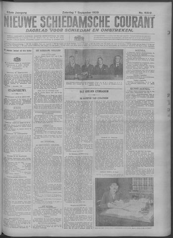 Nieuwe Schiedamsche Courant 1929-09-07