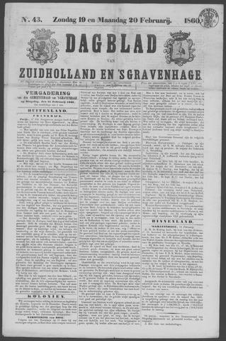 Dagblad van Zuid-Holland 1860-02-19