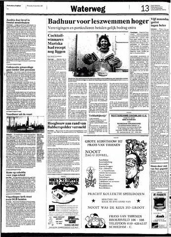 Rotterdamsch Nieuwsblad / Schiedamsche Courant / Rotterdams Dagblad / Waterweg / Algemeen Dagblad 1991-12-18