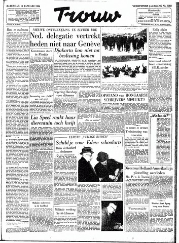 Trouw / De Rotterdammer 1956-01-14