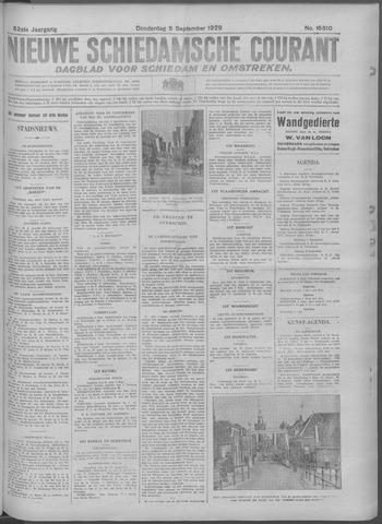 Nieuwe Schiedamsche Courant 1929-09-05