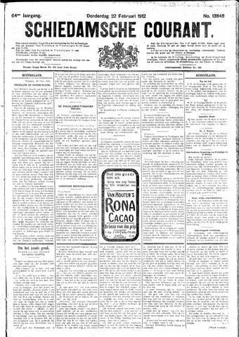 Schiedamsche Courant 1912-02-22