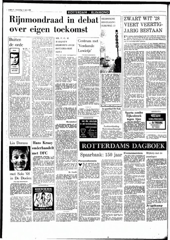 Rotterdamsch Parool / De Schiedammer 1968-04-11