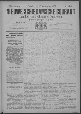 Nieuwe Schiedamsche Courant 1892-08-18