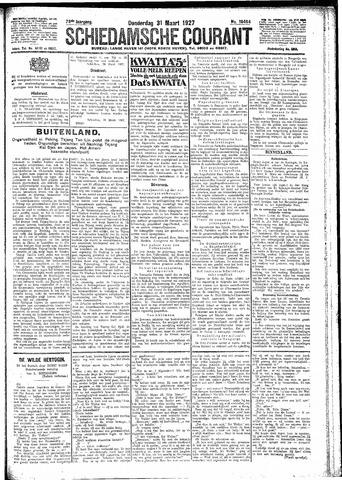 Schiedamsche Courant 1927-03-31
