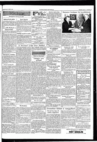 Rotterdamsch Nieuwsblad / Schiedamsche Courant / Rotterdams Dagblad / Waterweg / Algemeen Dagblad 1953-06-03