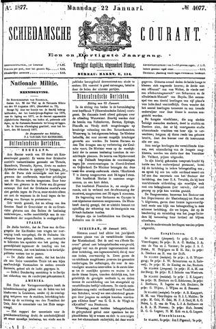 Schiedamsche Courant 1877-01-22