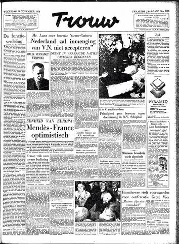 Trouw / De Rotterdammer 1954-11-24