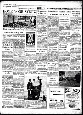 Rotterdamsch Parool / De Schiedammer 1963-08-07