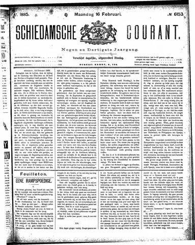 Schiedamsche Courant 1885-02-16