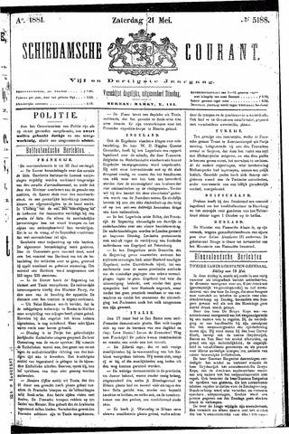 Schiedamsche Courant 1881-05-21