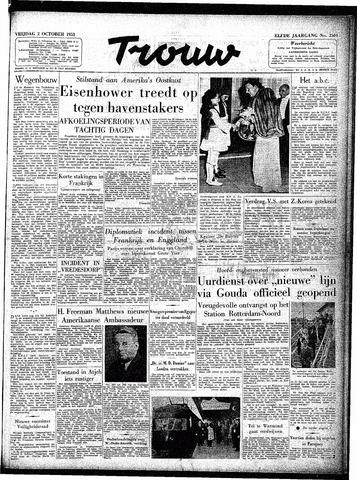 Trouw / De Rotterdammer 1953-10-02
