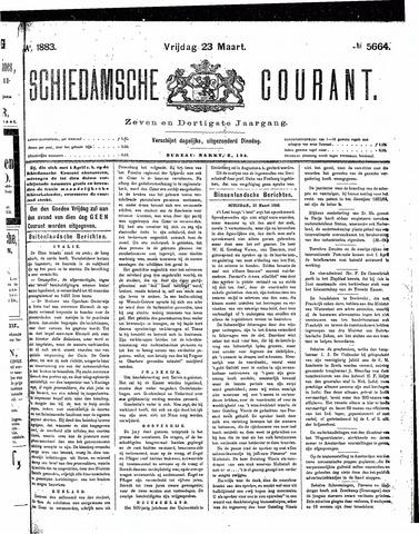 Schiedamsche Courant 1883-03-23