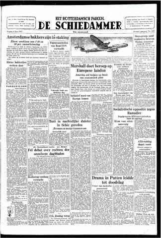 Rotterdamsch Parool / De Schiedammer 1947-06-06