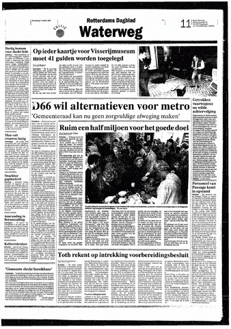 Rotterdamsch Nieuwsblad / Schiedamsche Courant / Rotterdams Dagblad / Waterweg / Algemeen Dagblad 1993-10-07