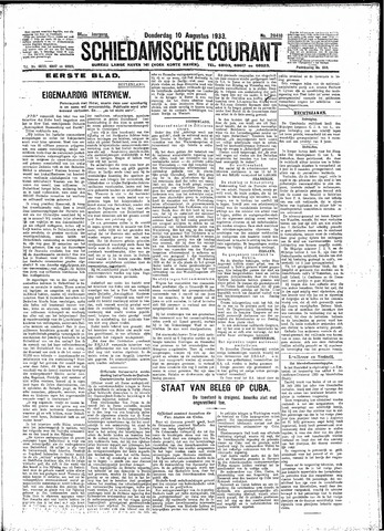 Schiedamsche Courant 1933-08-10