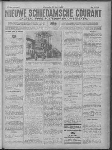 Nieuwe Schiedamsche Courant 1929-04-10