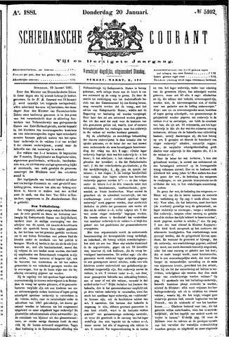 Schiedamsche Courant 1881-01-20