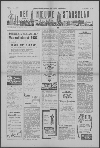 Het Nieuwe Stadsblad 1958-08-01