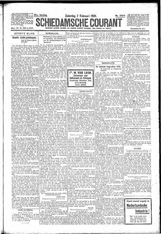 Schiedamsche Courant 1931-02-07