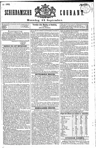 Schiedamsche Courant 1862-09-15