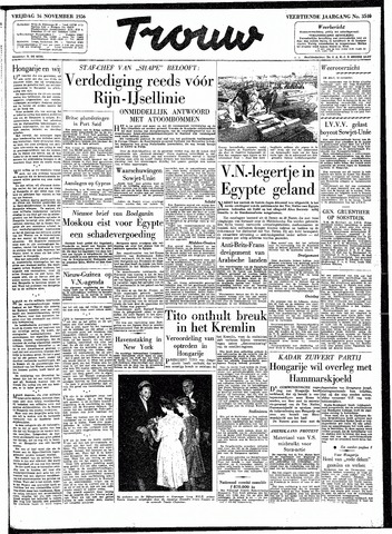 Trouw / De Rotterdammer 1956-11-16
