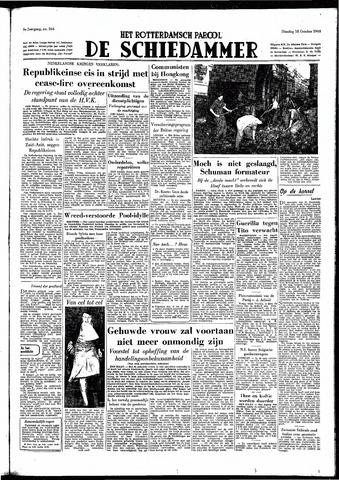 Rotterdamsch Parool / De Schiedammer 1949-10-18