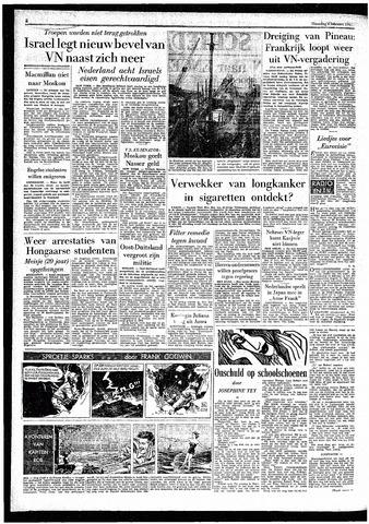 Rotterdamsch Parool / De Schiedammer 1957-02-04