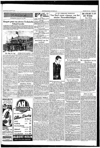 Rotterdamsch Nieuwsblad / Schiedamsche Courant / Rotterdams Dagblad / Waterweg / Algemeen Dagblad 1953-03-09
