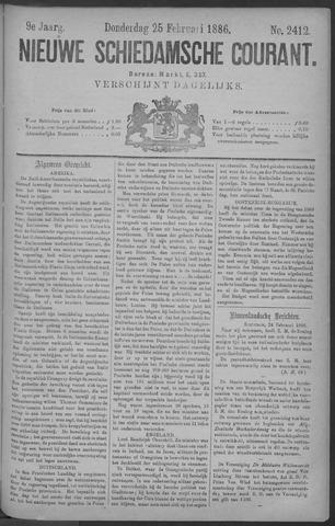 Nieuwe Schiedamsche Courant 1886-02-25