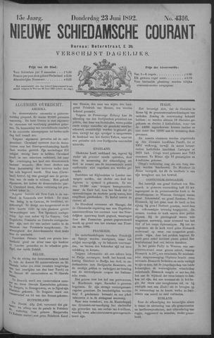 Nieuwe Schiedamsche Courant 1892-06-23