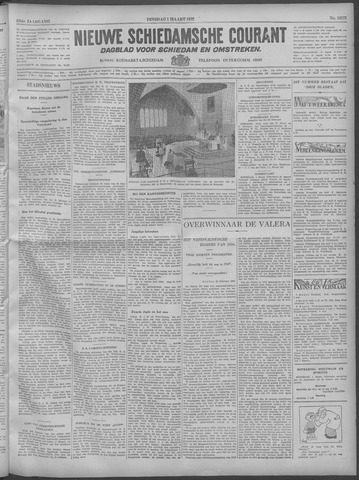 Nieuwe Schiedamsche Courant 1932-03-01