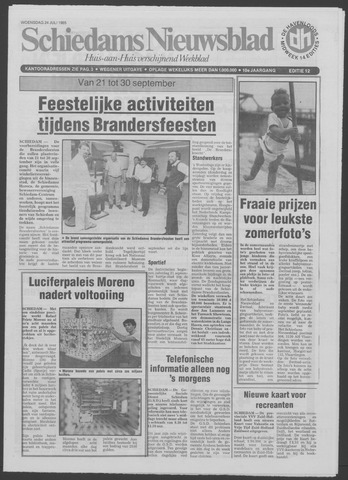 Schiedams Nieuwsblad 1985-07-24