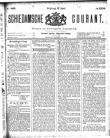 Schiedamsche Courant 1885-06-12