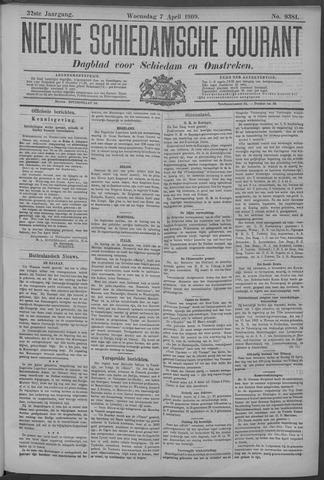 Nieuwe Schiedamsche Courant 1909-04-07