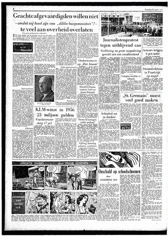 Rotterdamsch Parool / De Schiedammer 1957-03-25