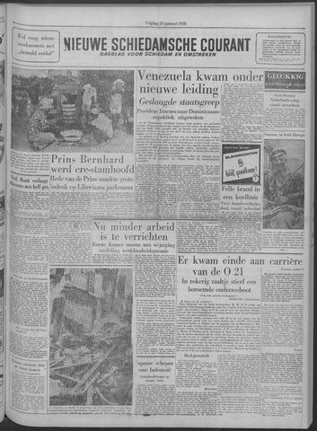 Nieuwe Schiedamsche Courant 1958-01-24