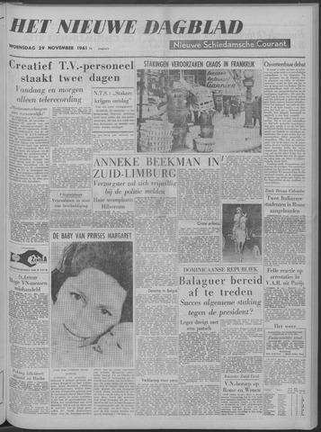 Nieuwe Schiedamsche Courant 1961-11-29