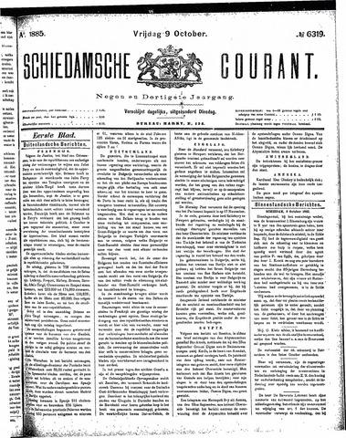 Schiedamsche Courant 1885-10-09