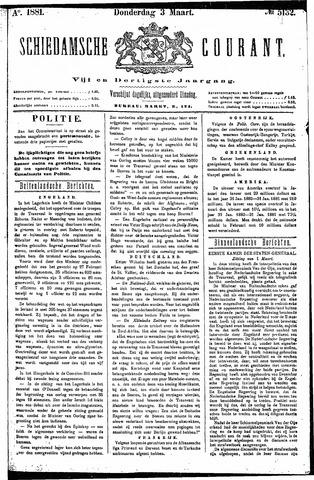 Schiedamsche Courant 1881-03-03