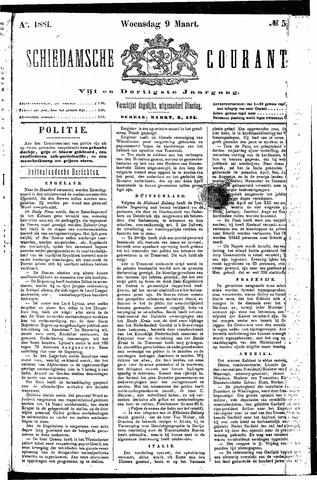 Schiedamsche Courant 1881-03-09