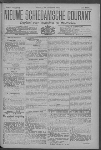 Nieuwe Schiedamsche Courant 1909-12-28