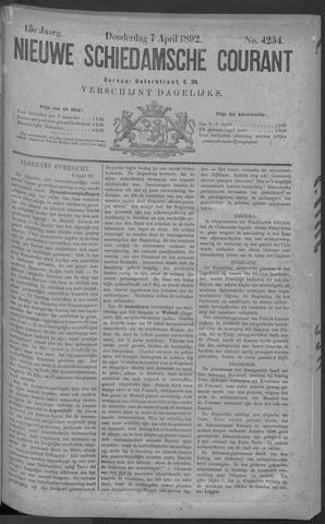 Nieuwe Schiedamsche Courant 1892-04-07