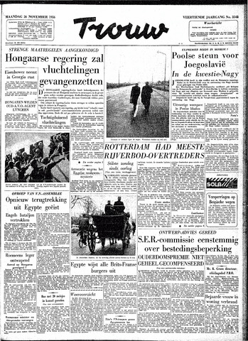Trouw / De Rotterdammer 1956-11-26