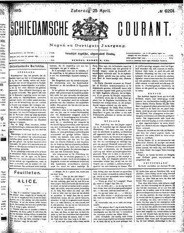Schiedamsche Courant 1885-04-25