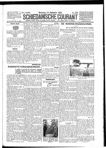 Schiedamsche Courant 1935-09-25