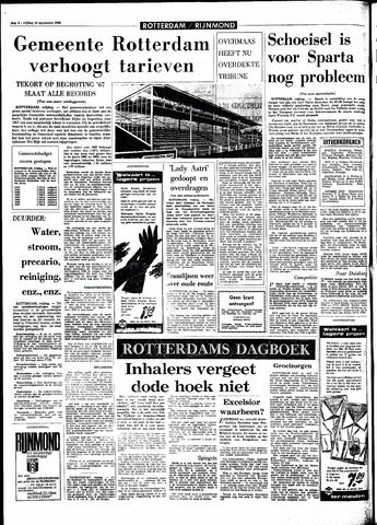 Rotterdamsch Parool / De Schiedammer 1966-09-16