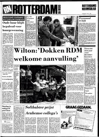 Rotterdamsch Nieuwsblad / Schiedamsche Courant / Rotterdams Dagblad / Waterweg / Algemeen Dagblad 1983-05-07